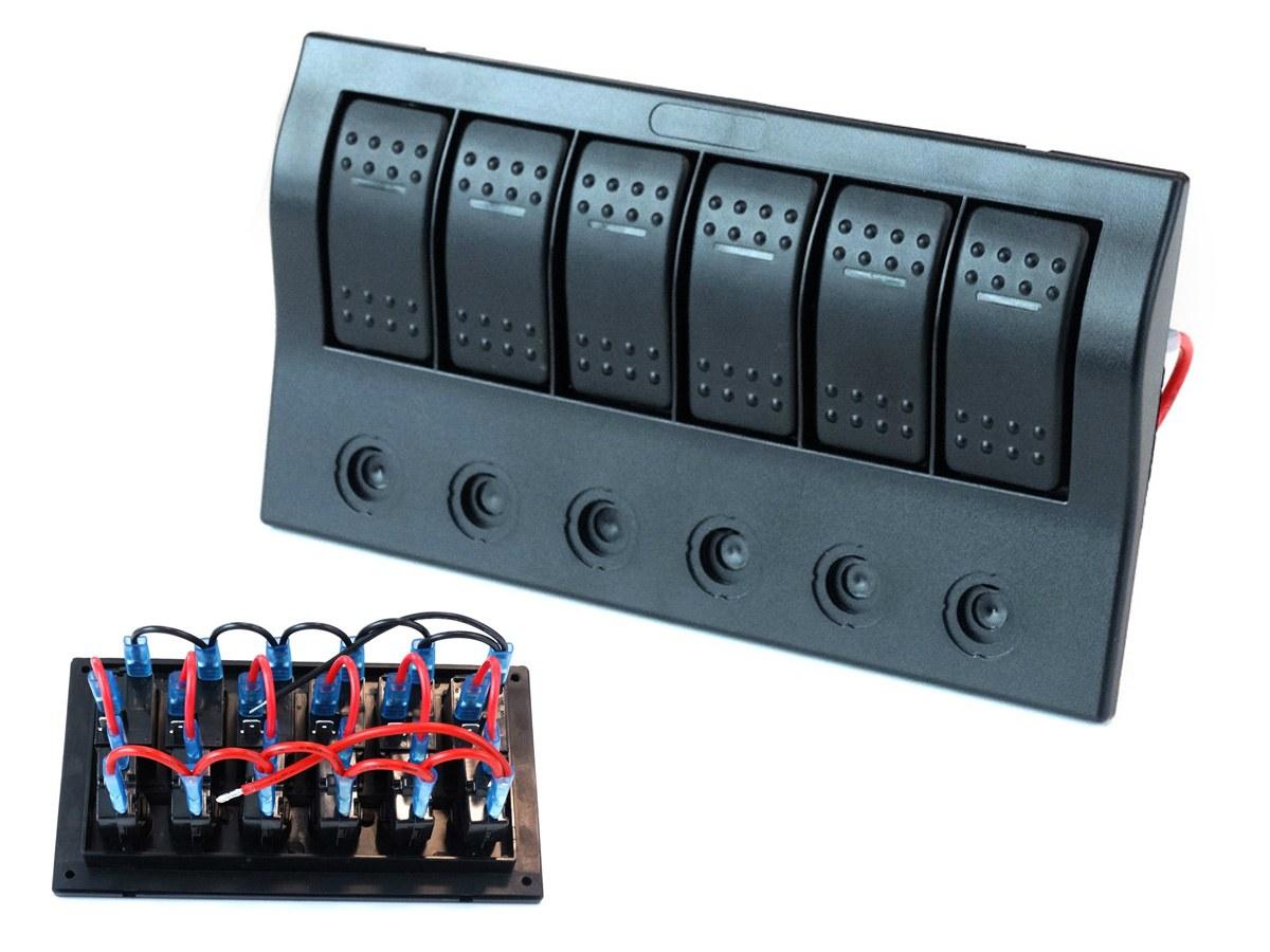 Przełączniki 12/24V IP68 (ON)-OFFx1, ON-OFFx5, 3B 5A, 2B 10A, 1B 15A - GRUBYGARAGE - Sklep Tuningowy
